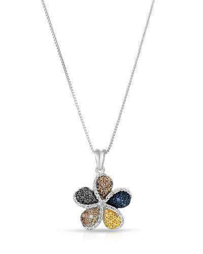 Brand New Necklace with 0.08ctw of Precious Stones - diamond, diamond, diamond, diamond, and diamond 925 Silver sterling silver