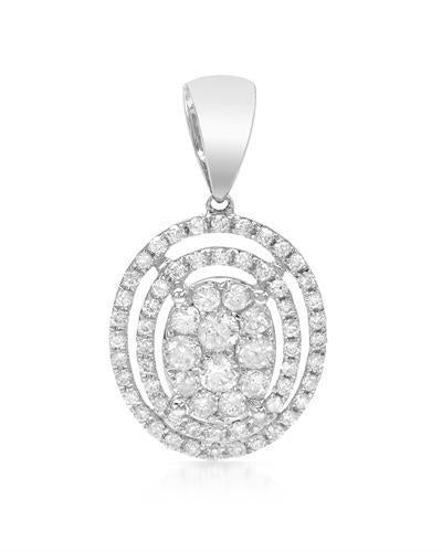 Brand New Pendant with 0.64ctw diamond 18K White gold