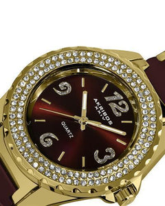 Akribos XXIV AK514BRG Brand New Quartz Watch with 0ctw cubic zirconia