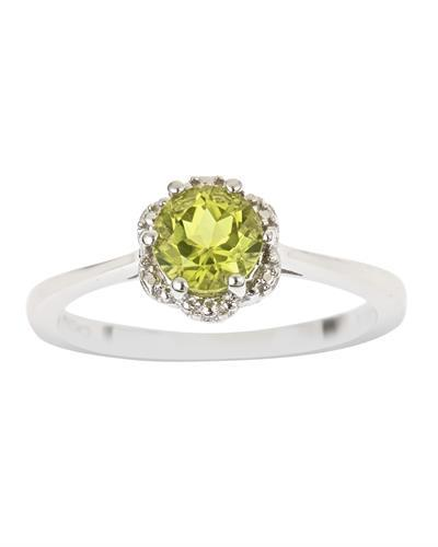 Brand New Ring with 0.85ctw peridot 925 Silver sterling silver