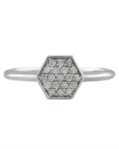 0.22 Carat 14K White Gold Diamond Ring