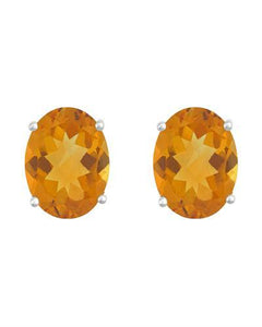 Brand New Earring with 2.4ctw citrine 14K White gold