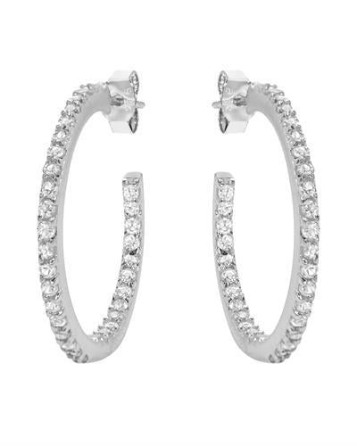 Brand New Earring with 0.75ctw sapphire  White sterling silver