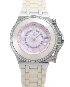 Oniss ON669-L/IV/PK PARIS Brand New Swiss Quartz date Watch with 0ctw of Precious Stones - cubic zirconia and mother of pearl