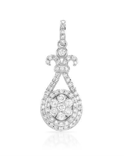 Brand New Pendant with 0.41ctw diamond 14K White gold