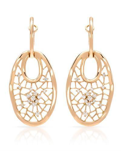 Brand New Earring with 0.31ctw diamond 14K Rose gold