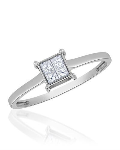 Brand New Ring with 0.25ctw diamond 14K White gold