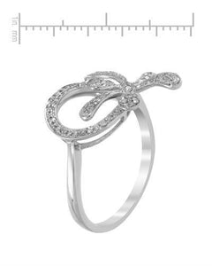Lundstrom Brand New Ring with 0.23ctw diamond 10K White gold