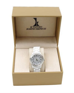 KC WA005296 Brand New Quartz date Watch with 0.55ctw of Precious Stones - diamond and mother of pearl
