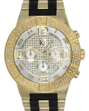 Load image into Gallery viewer, Techno Com by KC Brand New Japan Quartz date Watch with 1.5ctw of Precious Stones - diamond and mother of pearl