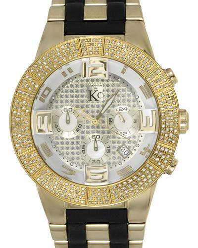 Techno Com by KC Brand New Japan Quartz date Watch with 1.5ctw of Precious Stones - diamond and mother of pearl
