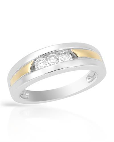 Brand New Ring with 0.25ctw diamond 14K Two tone gold