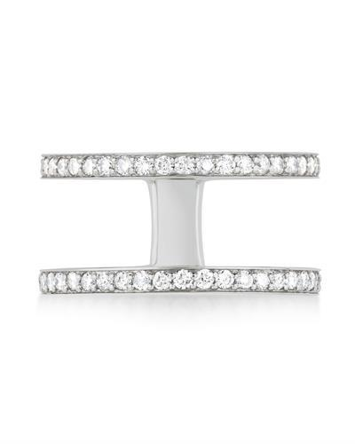 Kono Collection Brand New Ring with 0.6ctw lab-grown diamond 14K White gold