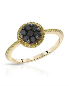 Lundstrom Brand New Ring with 0.74ctw of Precious Stones - diamond and diamond 10K Yellow gold