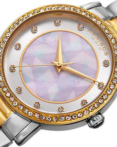 Akribos XXIV AK880TTG Brand New Quartz Watch with 0ctw of Precious Stones - crystal and mother of pearl