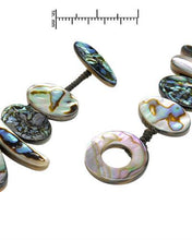 Load image into Gallery viewer, Brand New Necklace with 0ctw Abalone Shell  Green Fabric