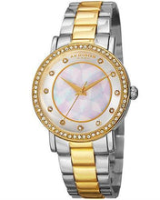 Load image into Gallery viewer, Akribos XXIV AK880TTG Brand New Quartz Watch with 0ctw of Precious Stones - crystal and mother of pearl