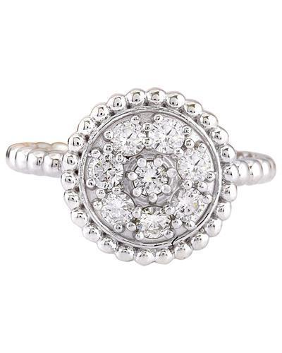 0.55 Carat Natural Diamond 14K Solid White Gold Ring