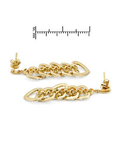 Lundstrom Brand New Earring with 0.85ctw diamond 14K Yellow gold