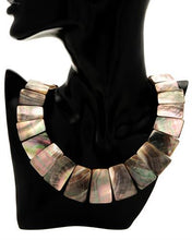 Load image into Gallery viewer, Brand New Necklace with 0ctw Abalone Shell  Black Silk