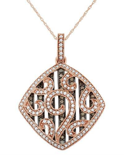 Brand New Necklace with 1.22ctw of Precious Stones - diamond and diamond 10K Rose gold