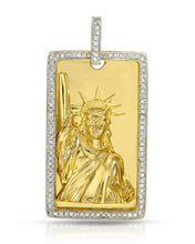 Load image into Gallery viewer, Brand New Pendant with 0.58ctw diamond 14K/925 Yellow Gold plated Silver