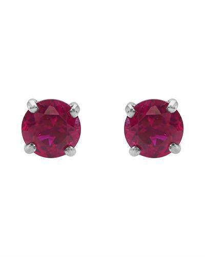 Brand New Earring with 2ctw ruby 10K White gold