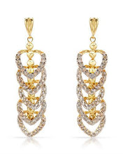 Load image into Gallery viewer, Lundstrom Brand New Earring with 0.85ctw diamond 14K Yellow gold