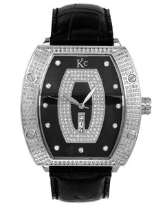 Techno Com by KC Brand New Japan Quartz day date Watch with 1.5ctw of Precious Stones - crystal, diamond, and mother of pearl