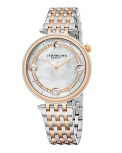 STUHRLING ORIGINAL 716.03 Symphony Brand New Japan Quartz Watch with 0ctw of Precious Stones - crystal and mother of pearl