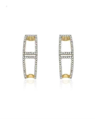Brand New Earring with 0.21ctw diamond 14K Yellow gold