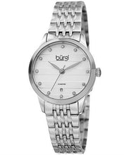 Load image into Gallery viewer, burgi BUR146SS Brand New Quartz date Watch with 0.06ctw diamond