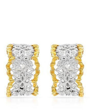 Load image into Gallery viewer, Brand New Earring with 0.22ctw diamond 18K Two tone gold