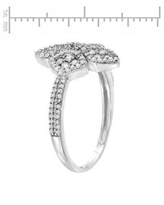 Lundstrom Brand New Ring with 0.47ctw diamond 14K White gold