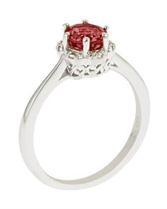 Brand New Ring with 1ctw garnet 925 Silver sterling silver