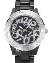 Load image into Gallery viewer, KC WA005082 Brand New Swiss Movement Watch with 0.07ctw of Precious Stones - crystal and diamond