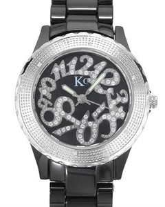 KC WA005082 Brand New Swiss Movement Watch with 0.07ctw of Precious Stones - crystal and diamond