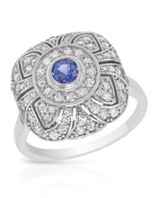 Load image into Gallery viewer, Brand New Ring with 1.85ctw of Precious Stones - diamond and sapphire 14K White gold