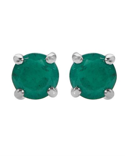 Brand New Earring with 0.8ctw emerald 10K White gold