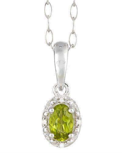 Brand New Necklace with 0.51ctw of Precious Stones - diamond and peridot 925 Silver sterling silver