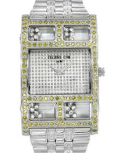 Load image into Gallery viewer, Techno Com by KC Brand New Quartz Watch with 2ctw of Precious Stones - crystal, diamond, diamond, and mother of pearl