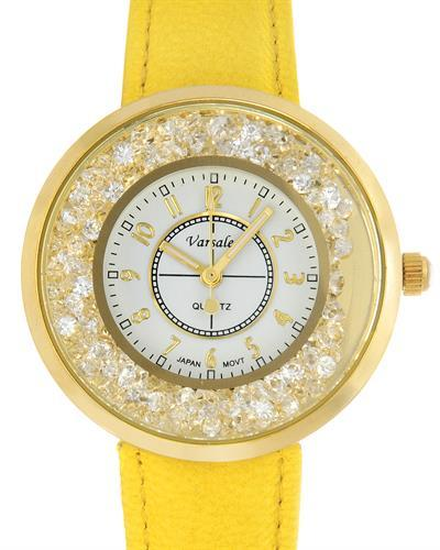 Varsales V5041-2 Brand New Japan Quartz Watch with 0ctw crystal