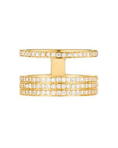 Kono Collection Brand New Ring with 1.2ctw lab-grown diamond 14K Yellow gold
