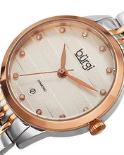 Load image into Gallery viewer, burgi BUR146TTR Brand New Quartz date Watch with 0.06ctw diamond