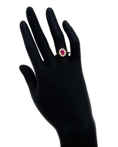Brand New Ring with 1.2ctw of Precious Stones - diamond and ruby 14K Yellow gold