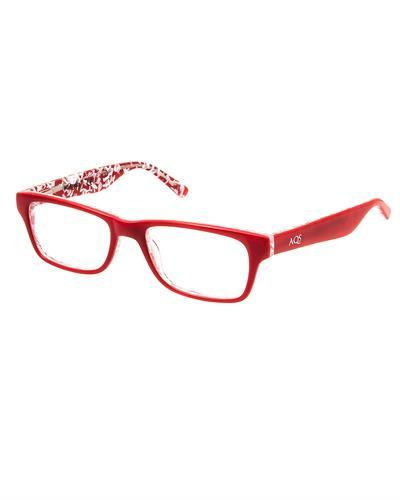 AQS ODRU001 Red Dru Brand New Eyeglasses  Multicolor plastic