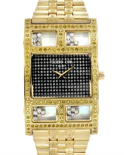 Techno Com by KC Brand New Quartz Watch with 2ctw of Precious Stones - crystal, diamond, diamond, and mother of pearl
