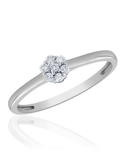Brand New Ring with 0.1ctw diamond 10K White gold