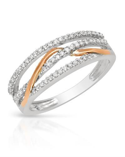 Brand New Ring with 0.27ctw diamond 14K Two tone gold
