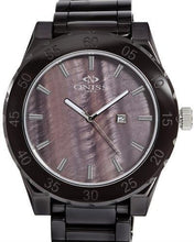 Load image into Gallery viewer, Oniss ON8174-M/BR Paris Brand New Swiss Quartz date Watch with 0ctw mother of pearl